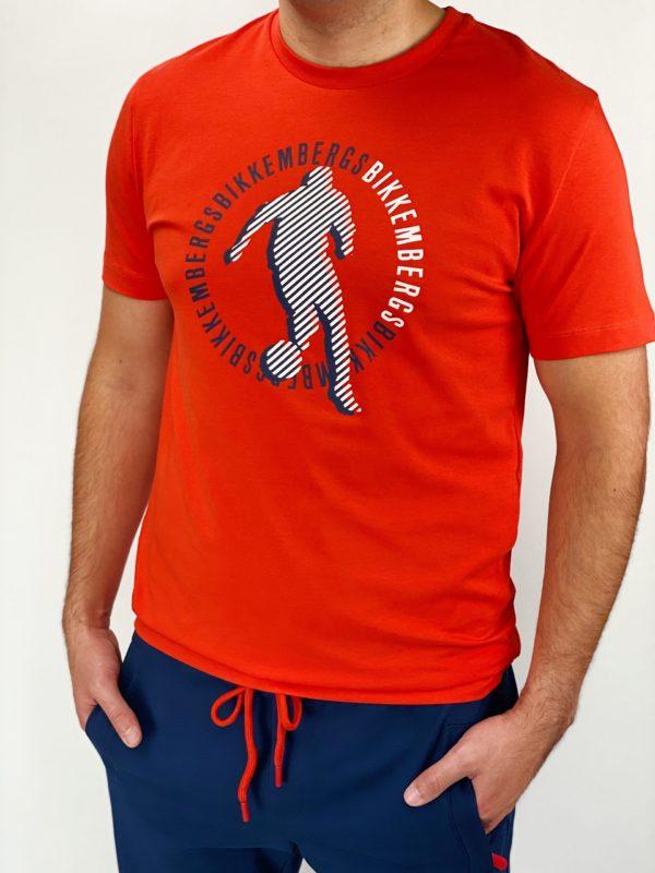 Футболка оранжевая мужская Dirk Bikkembergs