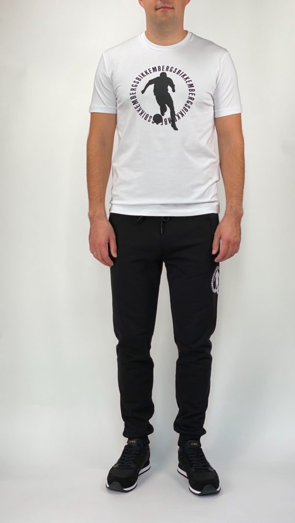Спортивные черные мужские штаны Bikkembergs