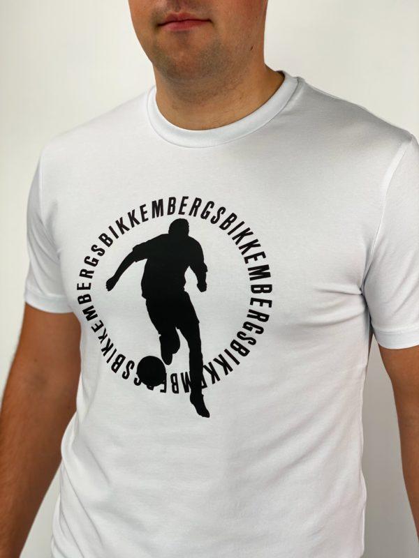 Футболка белая мужская Dirk Bikkembergs