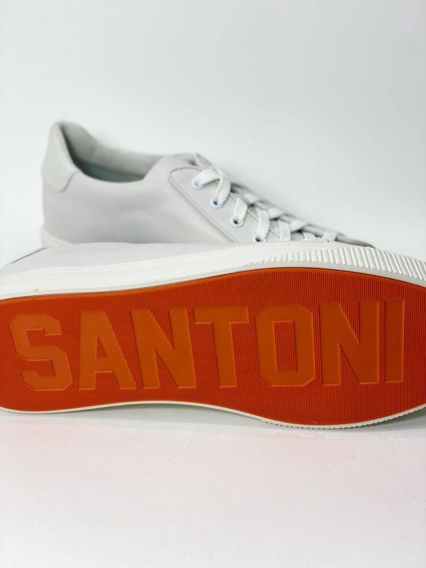 кеды белые Santoni мужские