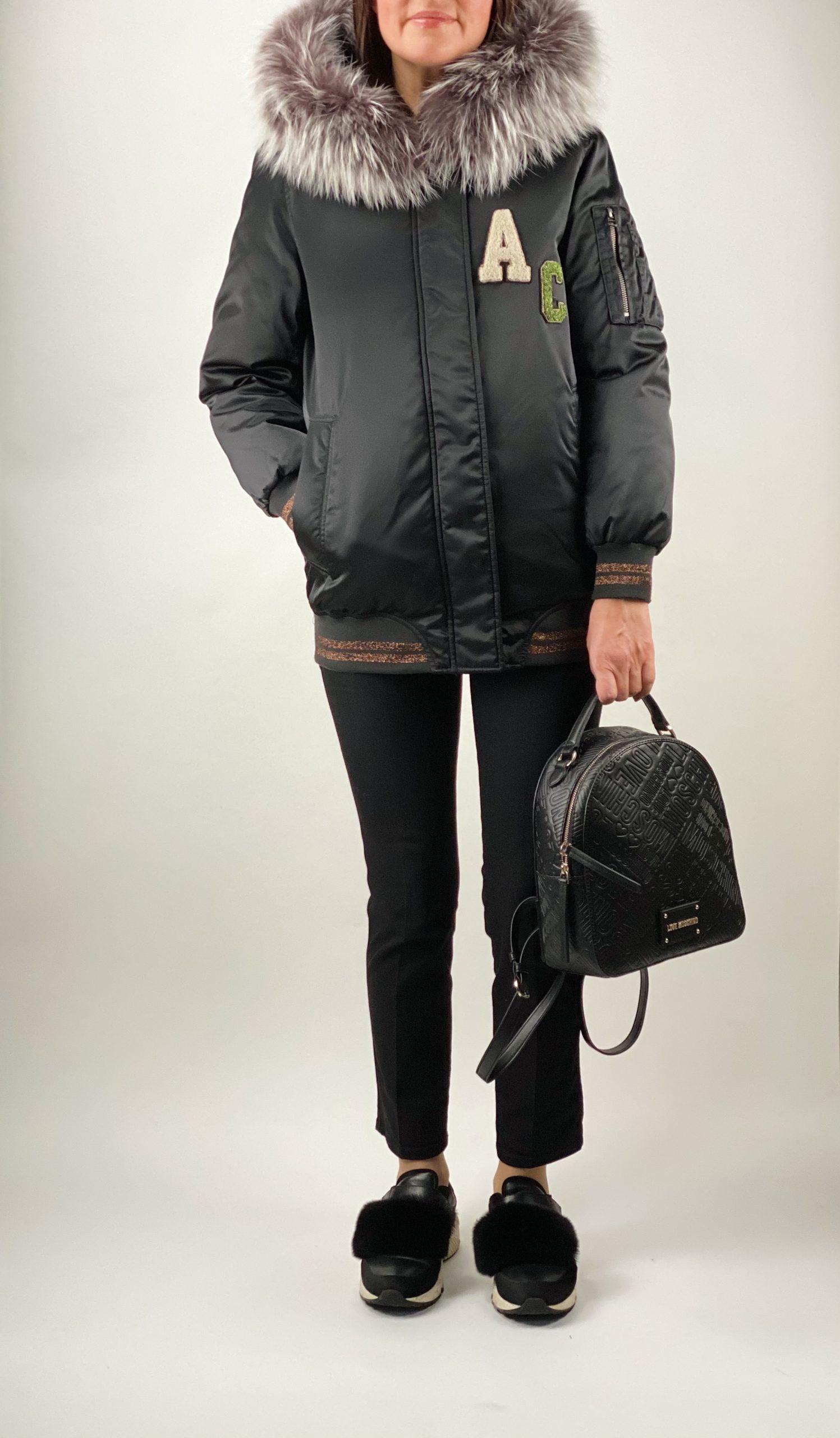 Женский пуховик Alessandra Chamonix черного цвета