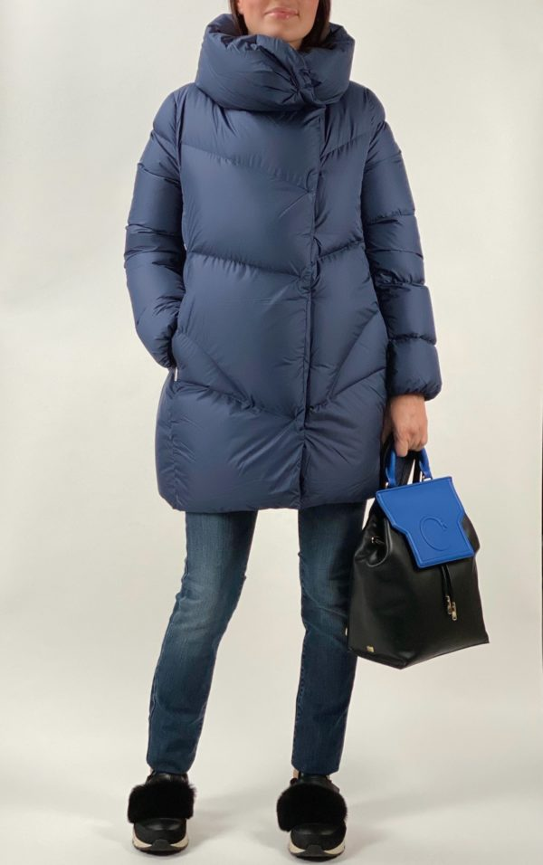 Женский пуховик ADD синего цвета