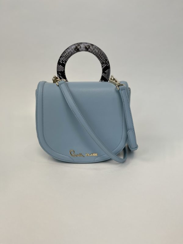 Сумка Cavalli Class небольшая женская светлого-голубого цвета основное фото