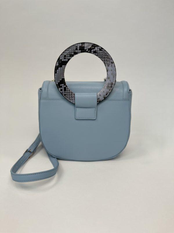 Сумка Cavalli Class небольшая женская светлого-голубого цвета вид сзади