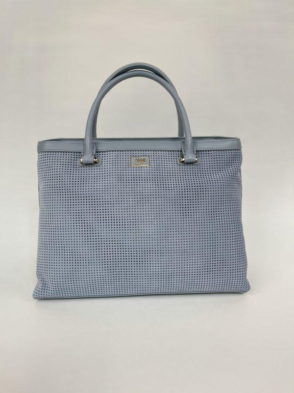 Cavalli Class сумка с перфорацией женская светло-голубого цвета