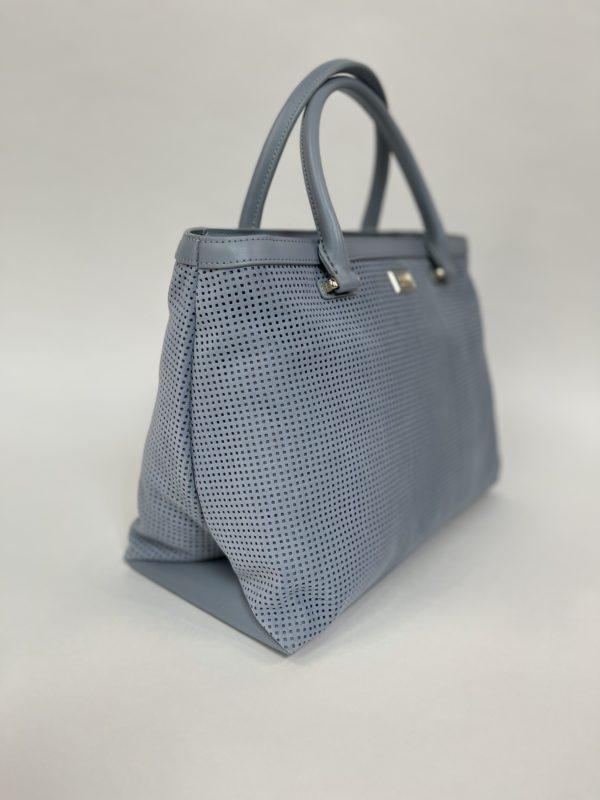 Cavalli Class сумка с перфорацией женская светло-голубого цвета вид сбоку