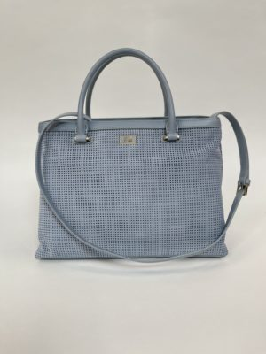 Cavalli Class сумка с перфорацией женская светло-голубого цвета основной вид спереди