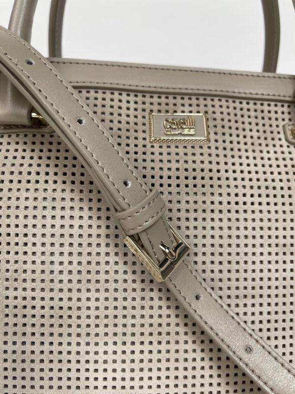 Cavalli Class сумка с перфорацией женская деталь и логотип
