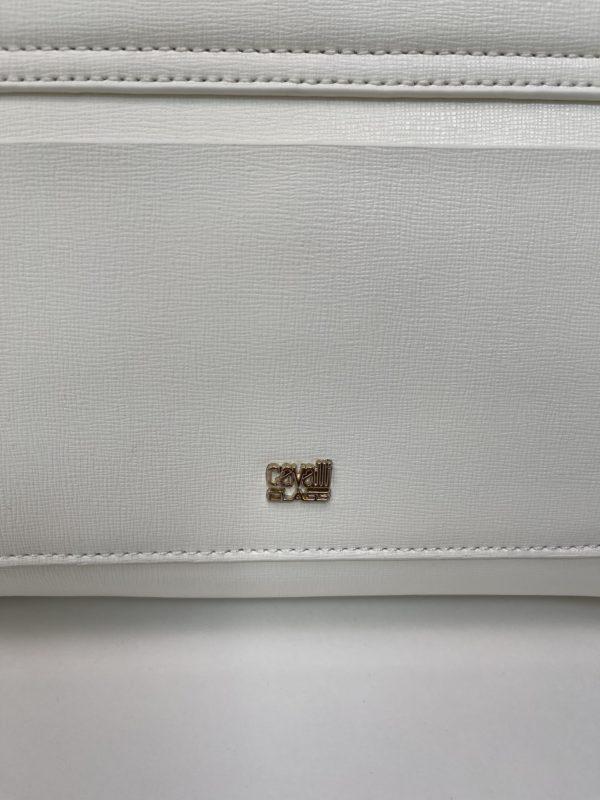 Сумка женская белая Cavalli Class логотип бренда