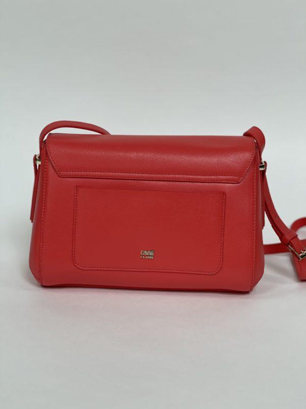 Сумка женская красная Cavalli Class общий вид сзади
