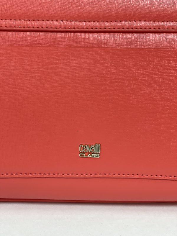 Сумка женская красная Cavalli Class логотип