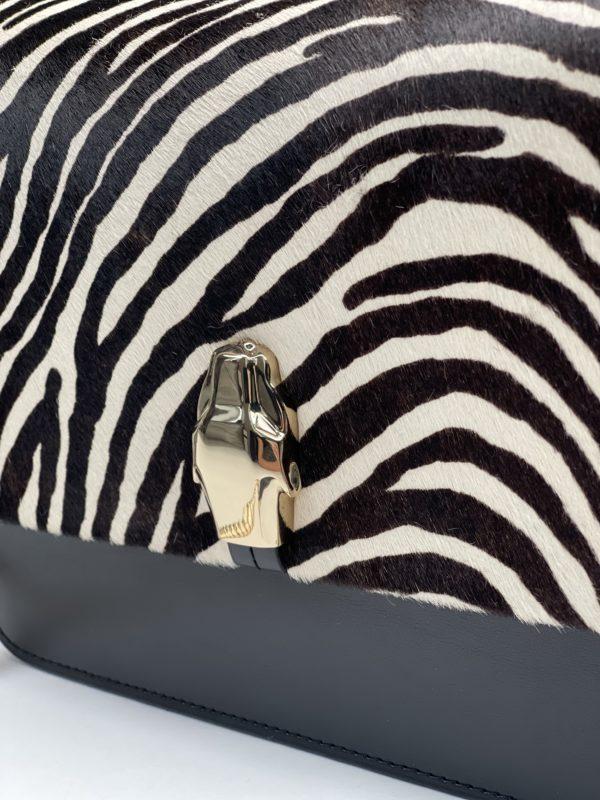 сумка женская Кавалли класс с принтом зебры