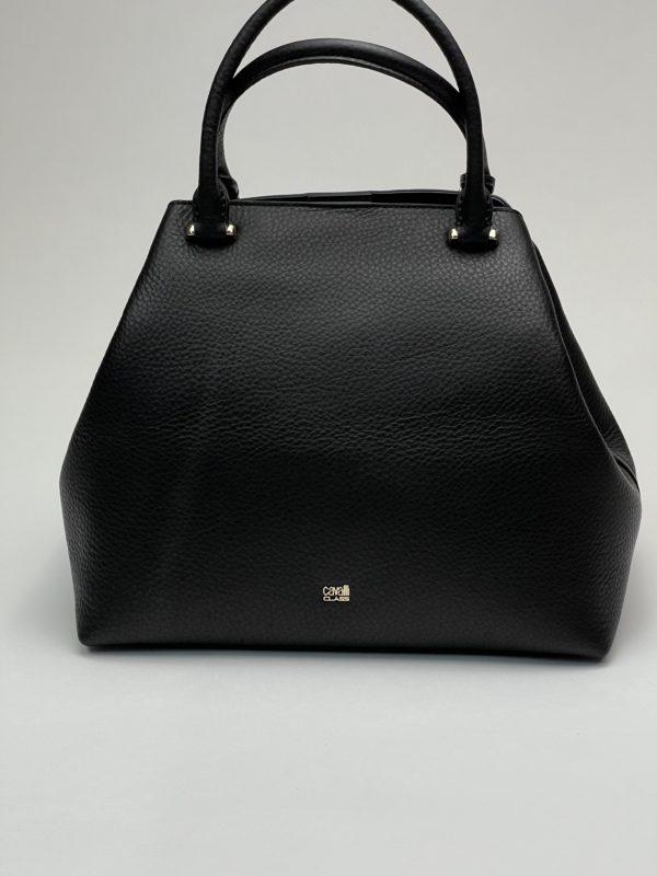 Сумка Cavalli Class из зернистой- чёрной кожи